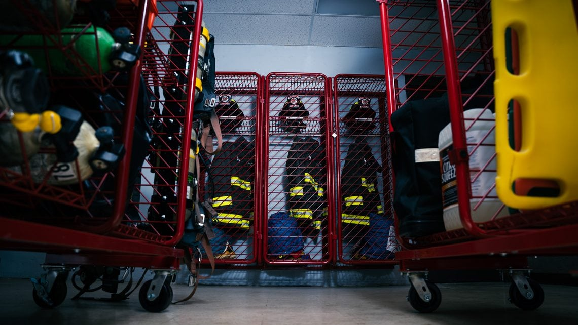Red Rack | Firefighter PPE Storage