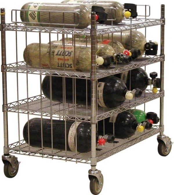SCBA Mobile Bottle Cart