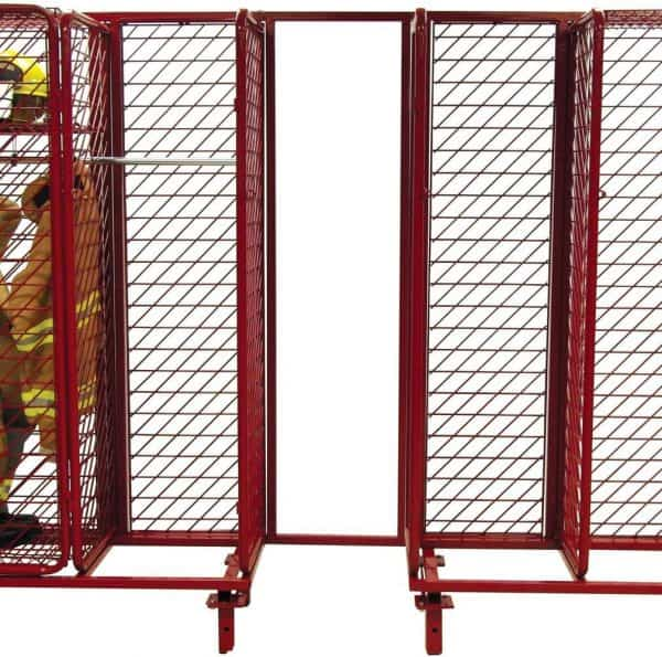 """Freestanding Red Rack Single Sided  - 18"""" Compartments"""