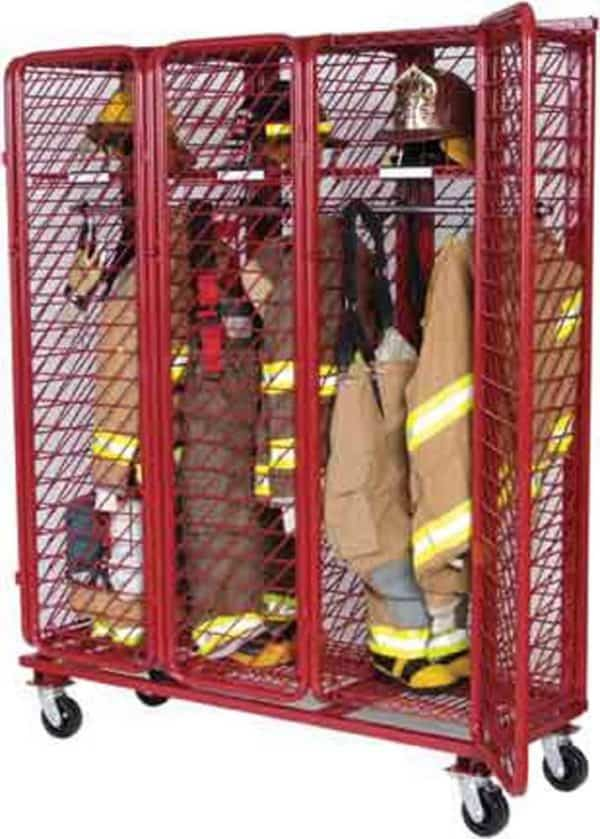 "Mobile Red Rack - Single Sided - 18"" Compartments"