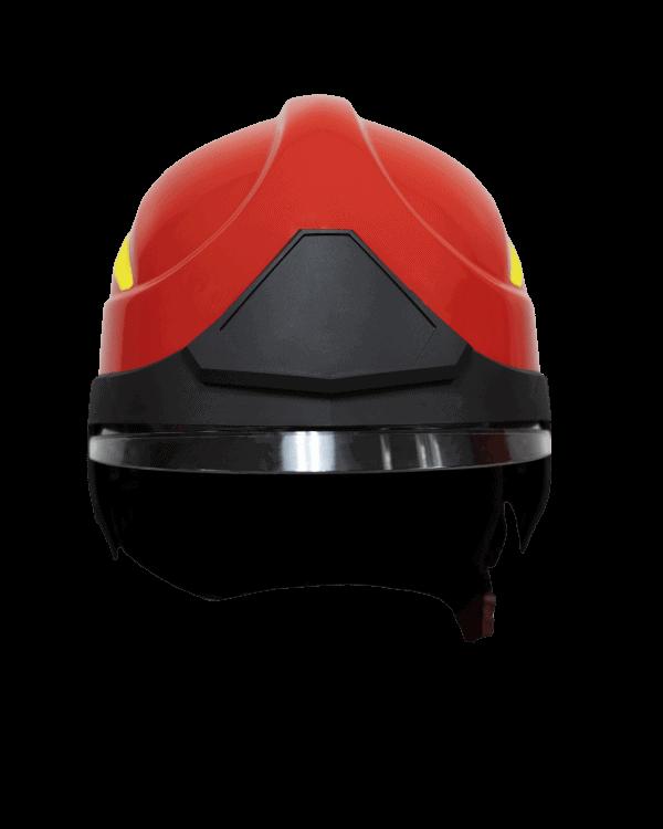 F15 Modern Fire Helmet Red