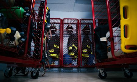 Red Rack   Firefighter PPE Storage