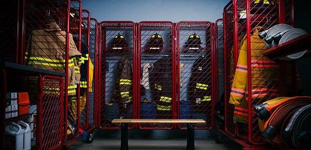 Stored Firefighter Gear